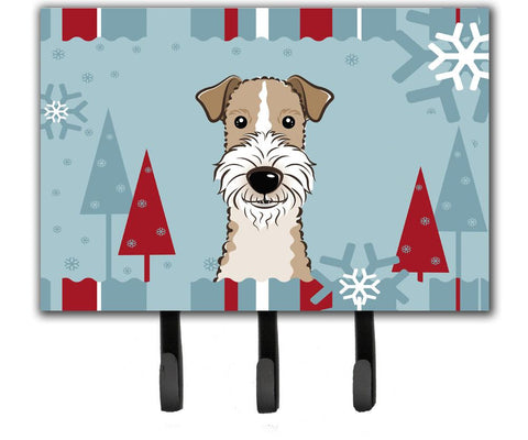 Buy this Winter Holiday Wire Haired Fox Terrier Leash or Key Holder BB1743TH68