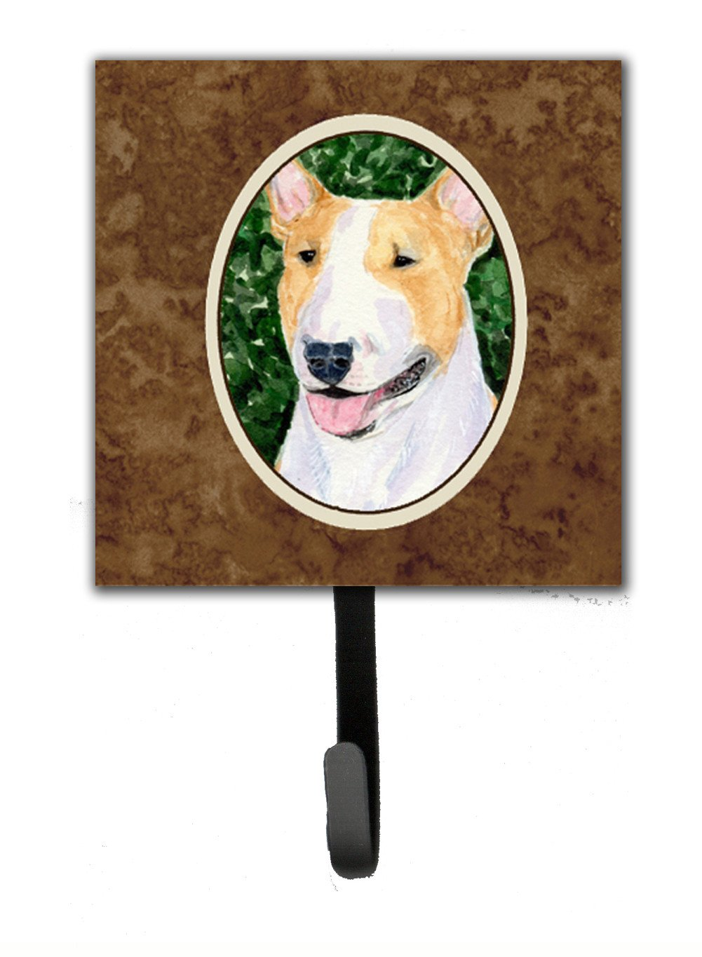 Bull Terrier Leash Holder or Key Hook by Caroline's Treasures