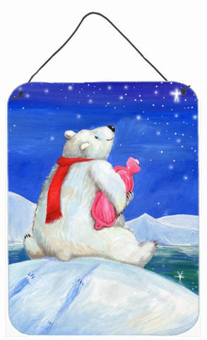 Buy this Polar Bear with Hot Water Bottle Wall or Door Hanging Prints CDCO0488DS1216