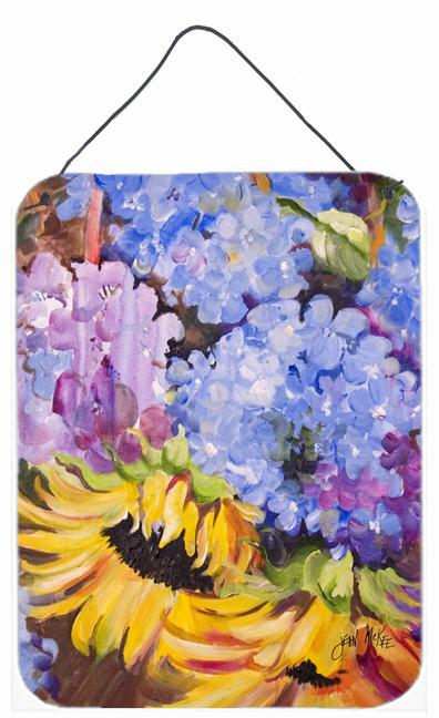 Buy this Hydrangeas and Sunflowers Wall or Door Hanging Prints JMK1175DS1216
