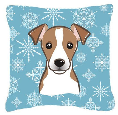 Buy this Snowflake Jack Russell Terrier Fabric Decorative Pillow BB1694PW1414