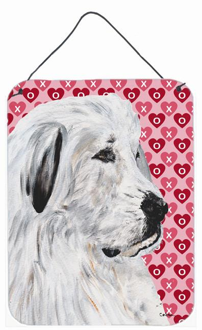 Great Pyrenees Hearts and Love Wall or Door Hanging Prints SC9714DS1216 by Caroline's Treasures