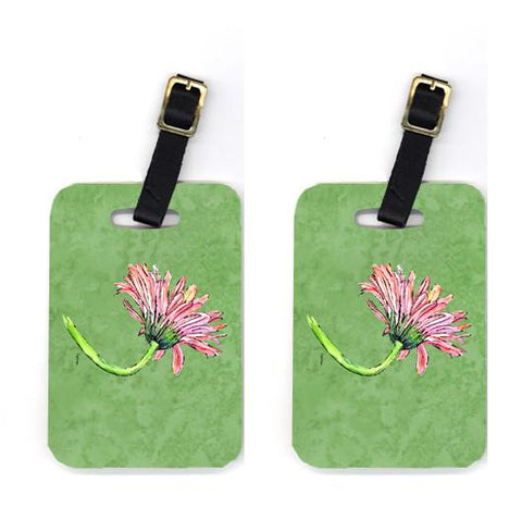Buy this Pair of Gerber Daisy Pink Luggage Tags
