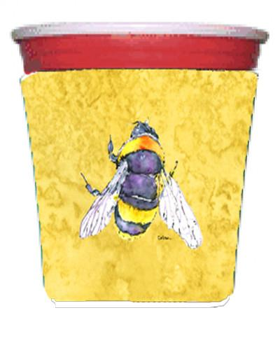 Buy this Bee on Yellow Red Solo Cup Beverage Insulator Hugger