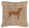 Labrador Burlap and Brown   Canvas Fabric Decorative Pillow BB1116 - the-store.com