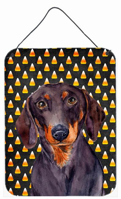 Buy this Dachshund Candy Corn Halloween Portrait Wall or Door Hanging Prints