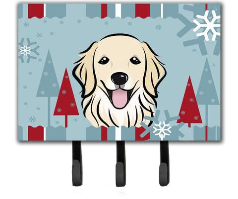 Buy this Winter Holiday Golden Retriever Leash or Key Holder BB1701TH68