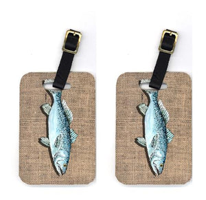 Buy this Pair of Fish Speckled Trout Luggage Tags
