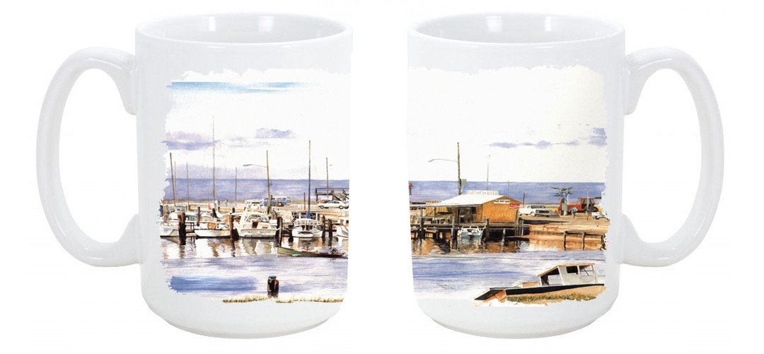 Pass Bait Shop Dishwasher Safe Microwavable Ceramic Coffee Mug 15 ounce 1006CM15 by Caroline's Treasures