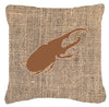 Beetle Burlap and Brown   Canvas Fabric Decorative Pillow BB1056 by Caroline's Treasures