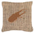 Buy this Beetle Burlap and Brown   Canvas Fabric Decorative Pillow BB1056