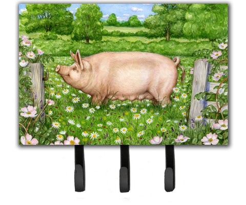Buy this Pig In Dasies by Debbie Cook Leash or Key Holder CDCO0374TH68