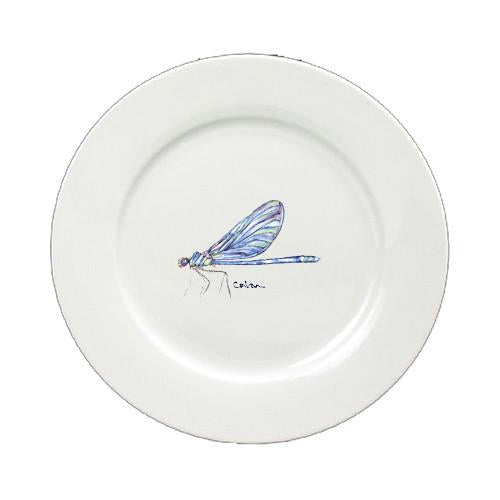 Buy this Dragonfly Round Ceramic White Salad Plate 8865-DPW