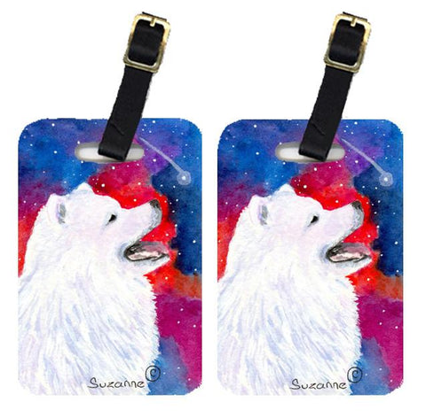 Buy this Pair of 2 Samoyed Luggage Tags