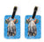Pair of Teal Duck Luggage Tags by Caroline's Treasures