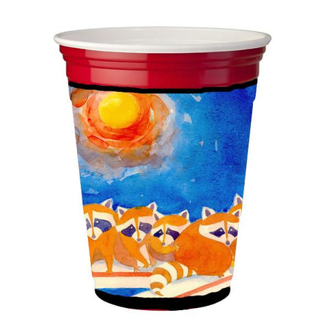 Buy this Raccoons on the porch  Red Solo Cup Beverage Insulator Hugger