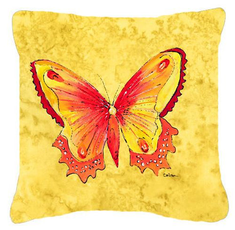 Buy this Butterfly on Yellow   Canvas Fabric Decorative Pillow