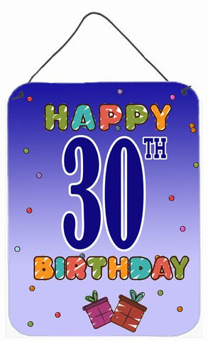 Buy this Happy 30th Birthday Wall or Door Hanging Prints CJ1122DS1216