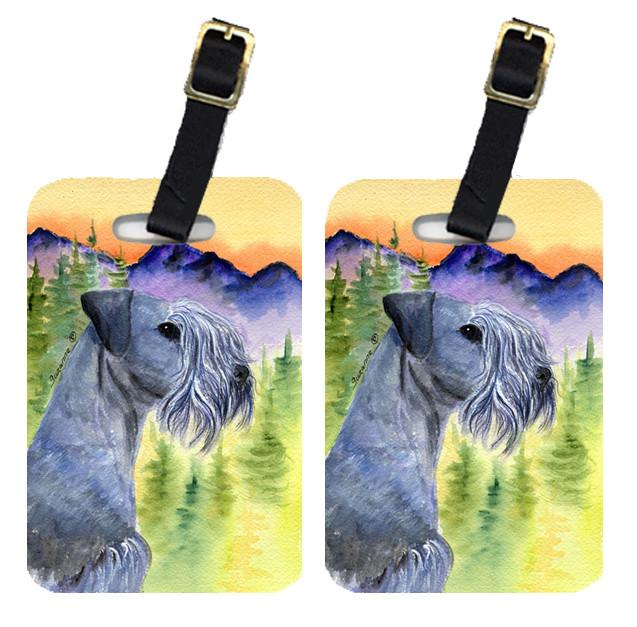 Pair of 2 Cesky Terrier Luggage Tags by Caroline's Treasures