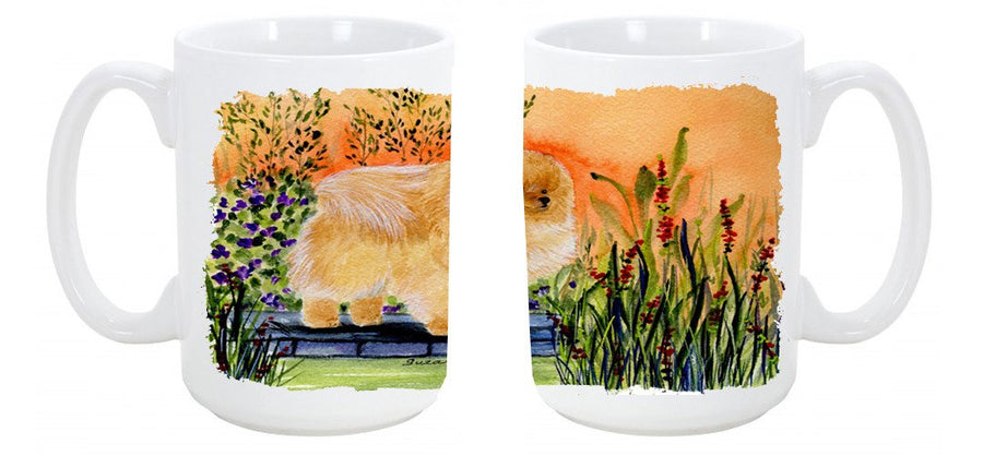 Buy this Pomeranian Dishwasher Safe Microwavable Ceramic Coffee Mug 15 ounce SS8161CM15