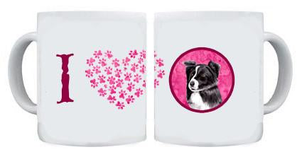 Border Collie Dishwasher Safe Microwavable Ceramic Coffee Mug 15 ounce by Caroline's Treasures