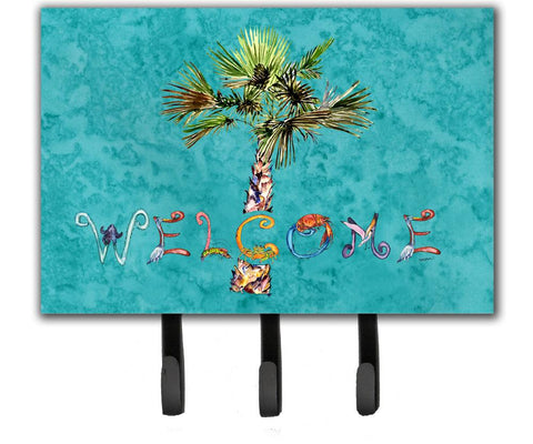 Buy this Welcome Palm Tree on Teal Leash or Key Holder 8711TH68