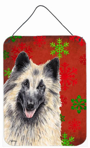 Buy this Belgian Tervuren Red Snowflakes Holiday Christmas Wall or Door Hanging Prints