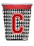 Buy this Monogram - Houndstooth  Initial  C Red Solo Cup Beverage Insulator Hugger CJ1021C-RSC