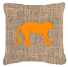 Monkey Burlap and Orange   Canvas Fabric Decorative Pillow BB1128 - the-store.com