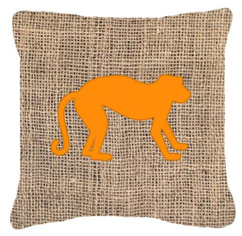 Buy this Monkey Burlap and Orange   Canvas Fabric Decorative Pillow BB1128