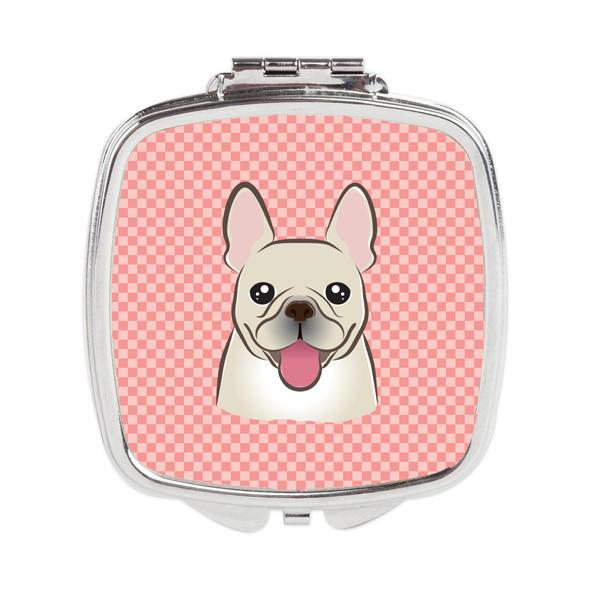 Checkerboard Pink French Bulldog Compact Mirror BB1238SCM by Caroline's Treasures