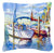 Towering Q Sailboats Canvas Fabric Decorative Pillow JMK1230PW1414 by Caroline's Treasures