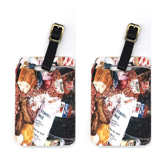 Buy this Pair of Red Beans and Rice Luggage Tags