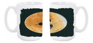 Buy this Pomeranian Dishwasher Safe Microwavable Ceramic Coffee Mug 15 ounce SS8051CM15
