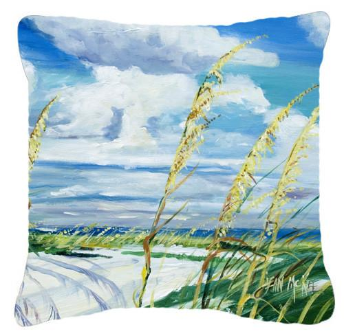 Sea Oats Canvas Fabric Decorative Pillow JMK1271PW1414 by Caroline's Treasures