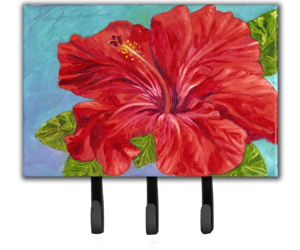 Red Hibiscus by Malenda Trick Leash or Key Holder TMTR0319TH68 by Caroline's Treasures