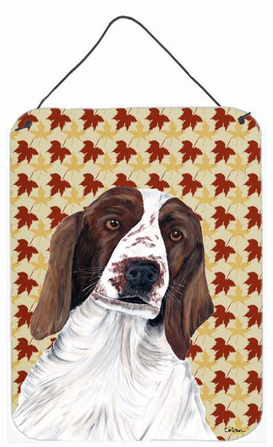 Welsh Springer Spaniel Fall Leaves Portrait Wall or Door Hanging Prints by Caroline's Treasures