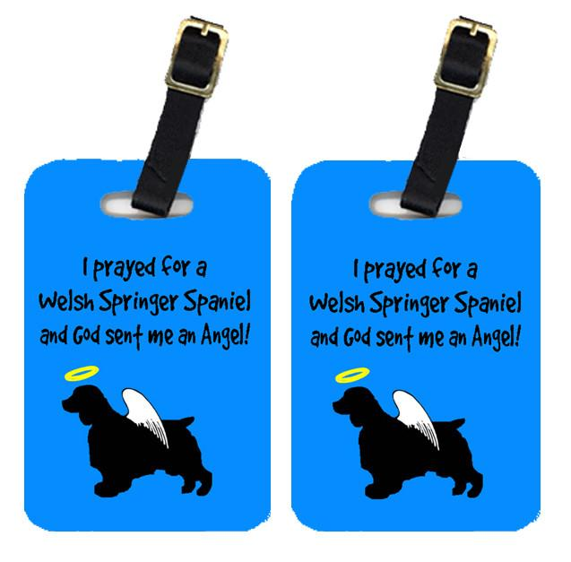 Buy this Pair of 2 Welsh Springer Spaniel Luggage Tags