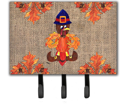 Buy this Thanksgiving Turkey Pilgrim Fleur de lis Leash Holder or Key Hook