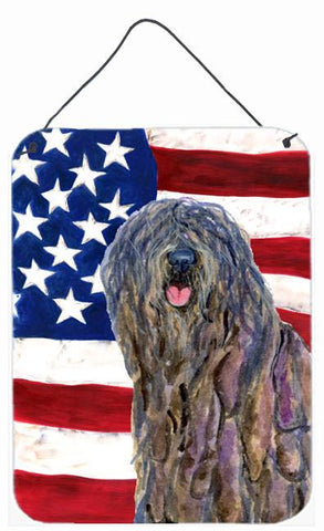 Buy this USA American Flag with Bergamasco Sheepdog Wall or Door Hanging Prints