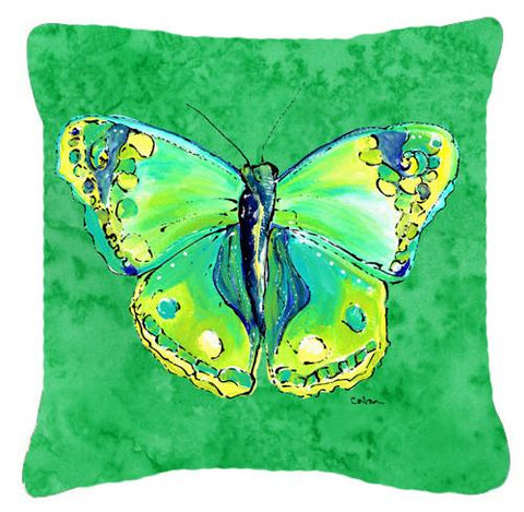 Buy this Butterfly Green on Green   Canvas Fabric Decorative Pillow