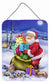 Christmas Santa Claus with Rabbits Wall or Door Hanging Prints APH6556DS1216 by Caroline's Treasures
