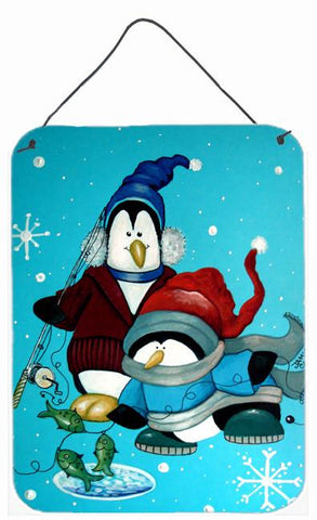 Buy this Somethin's Fishy Christmas Penguin  Wall or Door Hanging Prints PJC1020DS1216