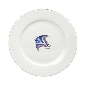 Buy this Stingray Round Ceramic White Dinner Plate 8353-DPW-11