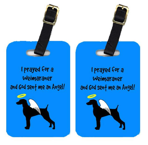Buy this Pair of 2 Weimaraner Luggage Tags