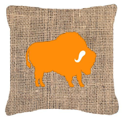 Buy this Buffalo Burlap and Orange   Canvas Fabric Decorative Pillow BB1127