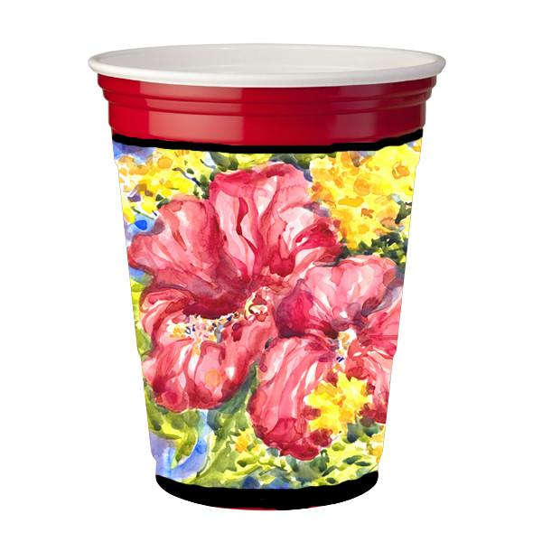 Buy this Flower - Hibiscus Red Solo Cup Beverage Insulator Hugger