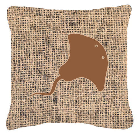 Buy this Stingray Burlap and Brown   Canvas Fabric Decorative Pillow BB1095