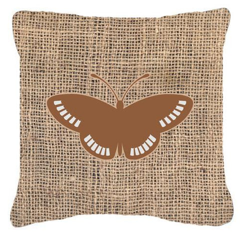 Buy this Butterfly Burlap and Brown   Canvas Fabric Decorative Pillow BB1031