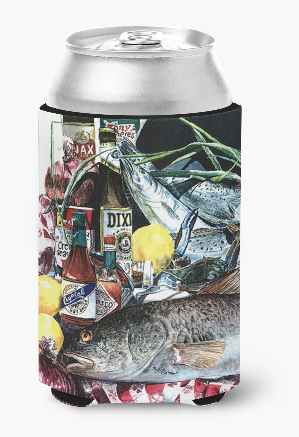 Fish and Beers from New Orleans Can or Bottle Beverage Insulator Hugger by Caroline's Treasures